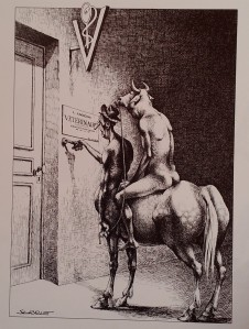Serre_Minotaure et Centaure in Humour noir et hommes en vlanc